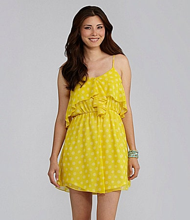 Chelsea & Violet Polka-Dot Ruffle Dress