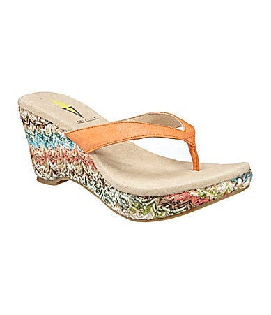 Volatile Girl Talk Wedge Thong Sandals