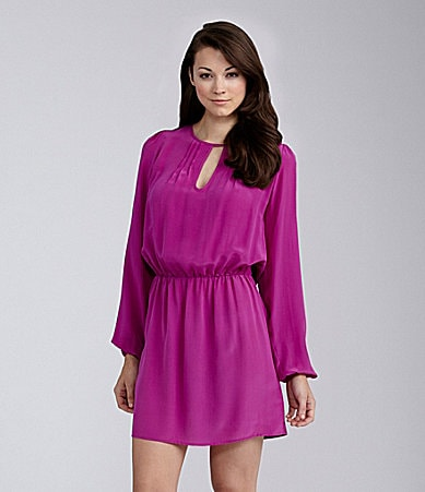 Buffalo David Bitton Long-Sleeve Keyhole Dress