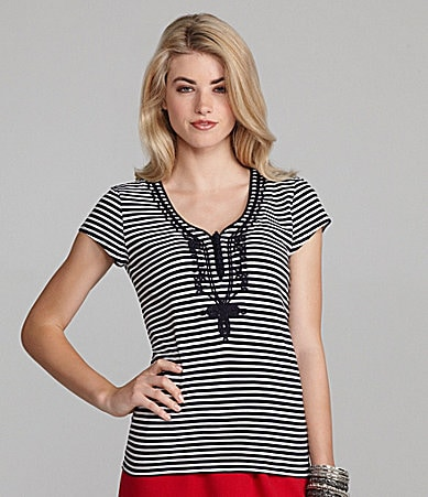 Cremieux Wilona Stripe Knit Top