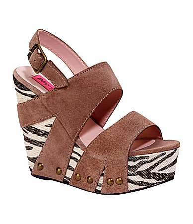 Betsey Johnson Ajaya Wedge Sandals