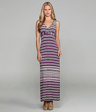 M.S.S.P. Striped Maxi Dress