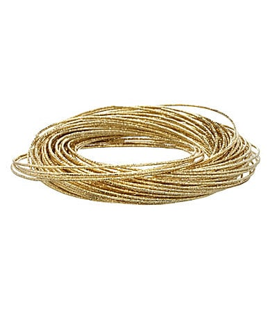 Natasha Accessories Million Row Bangle Bracelet