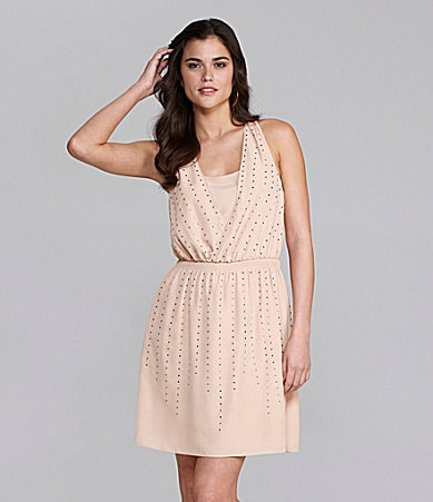Gianni Bini Kristen Studded Georgette Dress