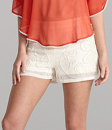 Gianni Bini Alicia Floral Beaded Shorts