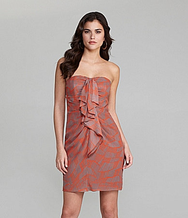 Gianni Bini Aubrey Ruffle-Front Dress