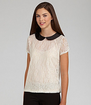 Soulmates Lace Peter Pan Collar Top