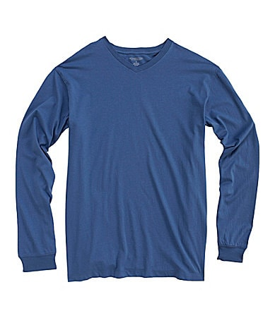 Roundtree & Yorke Long-Sleeve V-Neck Tee