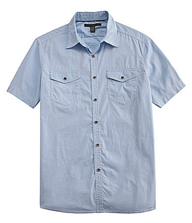 Kenneth Cole New York Double Pocket Woven Shirt