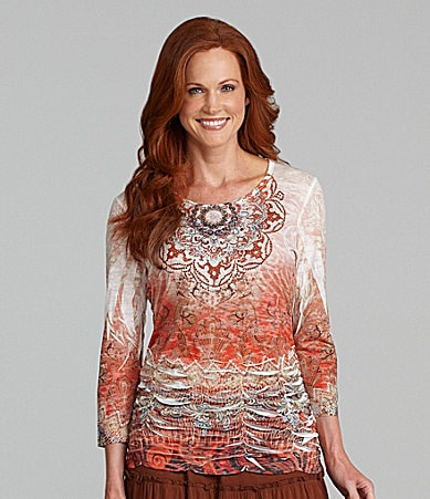Reba Ethnic Swirl Sublimation Top