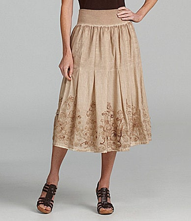 Reba Pleated Over-Print Skirt