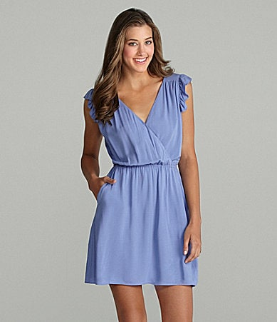 BCBGeneration Flutter-Sleeve Dress