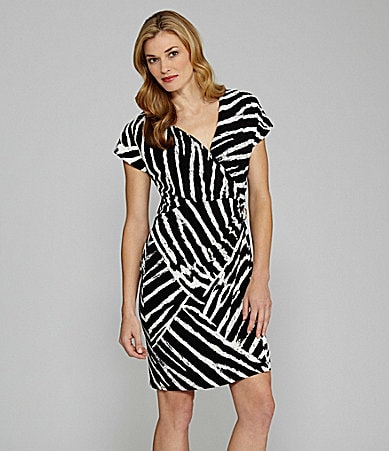 Chaus Wrap Zebra-Print Dress