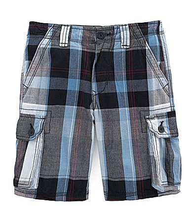 Levi�s 8-18 Plaid Printed Cargo Shorts