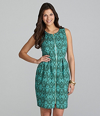 Alex Marie Petites Ruth Ikat Jacquard Dress