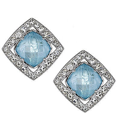 Nadri Bouquet Square Stud Earrings