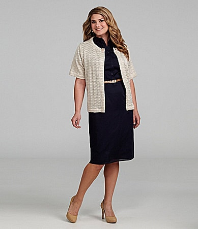 Alex Marie Woman Karen Cotton Dress & Tamara Knit Cardigan