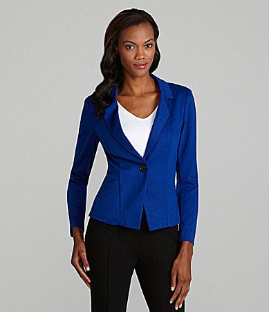 ECI One-Button Knit Blazer