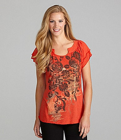 Westbound Double Flutter Sleeve Top