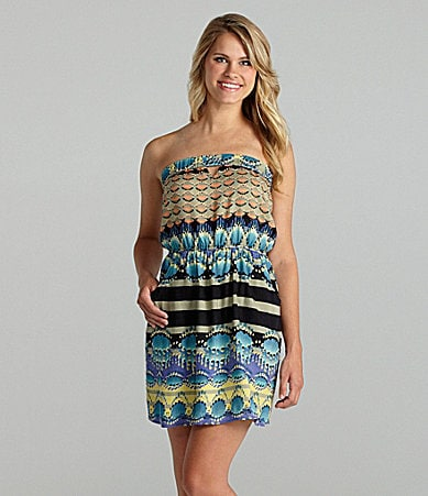 Angie Strapless Printed Dress