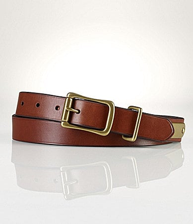 Polo Ralph Lauren Leather Officer�s Belt