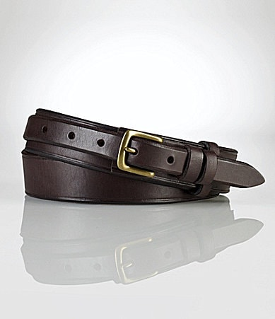 Polo Ralph Lauren Leather Studded O-Ring Belt
