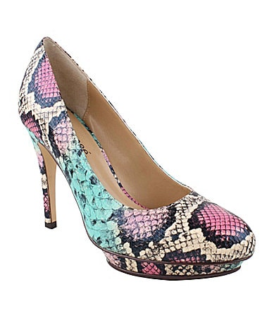 J. Renee Addison Snake-Print Pumps