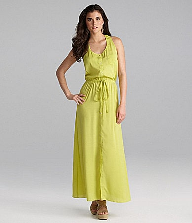 Gianni Bini Chad Tie-Waist Maxi Dress