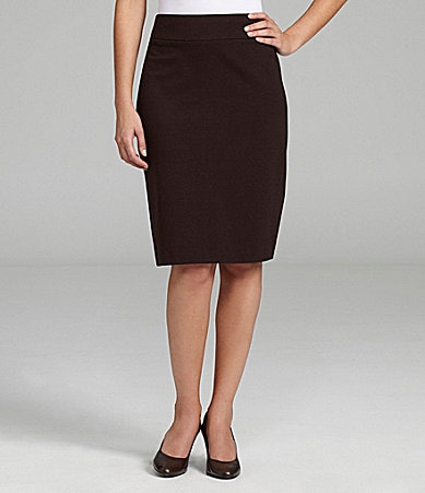 Investments Petites Pull-On Pencil Skirt