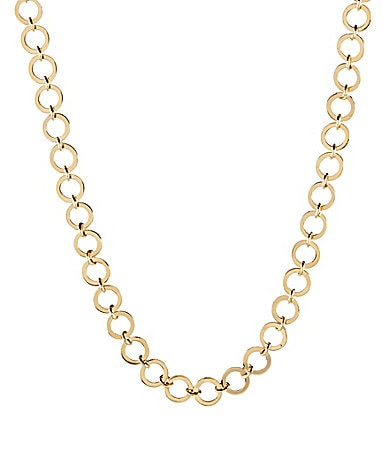Dillard�s Tailored Long Circle Link Necklace