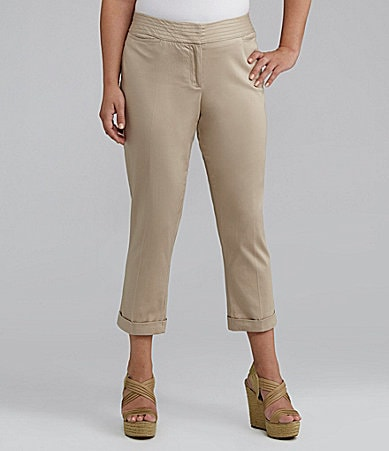 M.S.S.P. Woman Slim-Leg Cuffed Cropped Pants