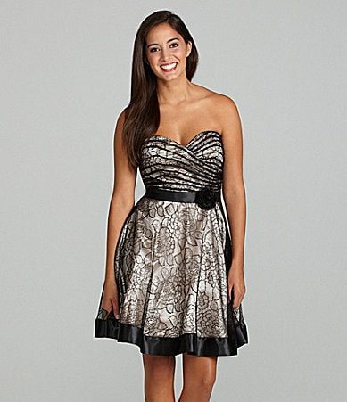 Jump Strapless Lace Dress