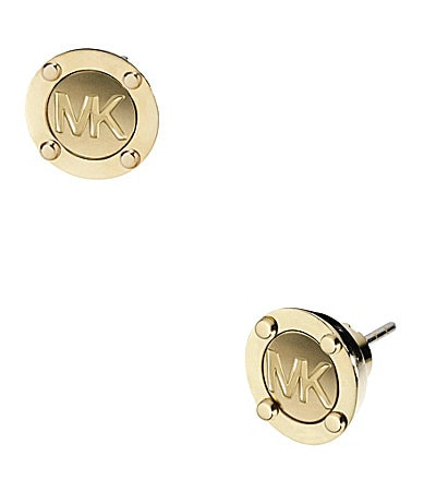 Michael Kors Button Logo Stud Earrings