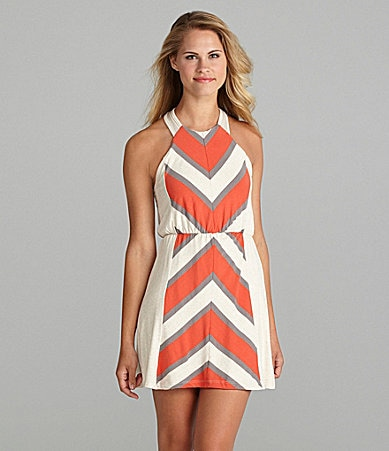Lovemarks Sleeveless Chevron Dress