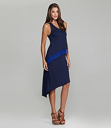 BCBGMAXAZRIA Tiered Asymmetric-Hem Dress