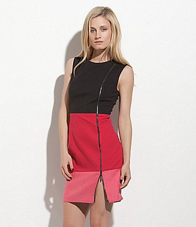 Laundry by Shelli Segal Colorblock Zipper Ponte Dress