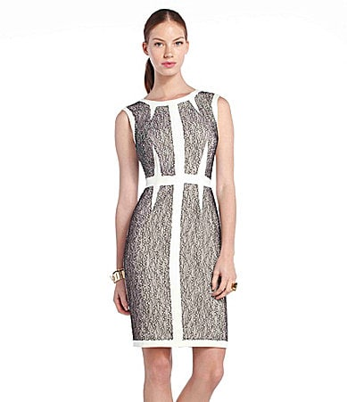BCBGMAXAZRIA Lace Sleeveless Sheath Dress