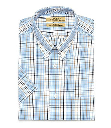Roundtree & Yorke Gold Label Big & Tall Plaid Sportshirt