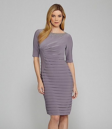 Adrianna Papell Fitted Banded Dress