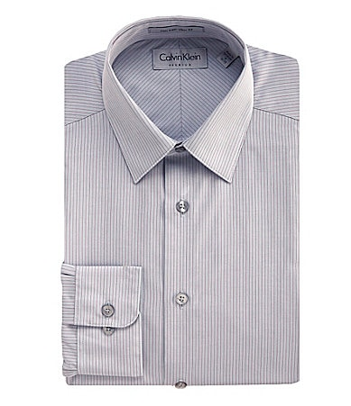Calvin Klein Fitted Striped Dress Shirt