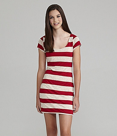 Soprano Striped Bodycon Dress