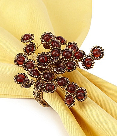 Noble Excellence Beaded Starburst Napkin Ring