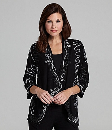 Investments II Cascade-Front Cardigan