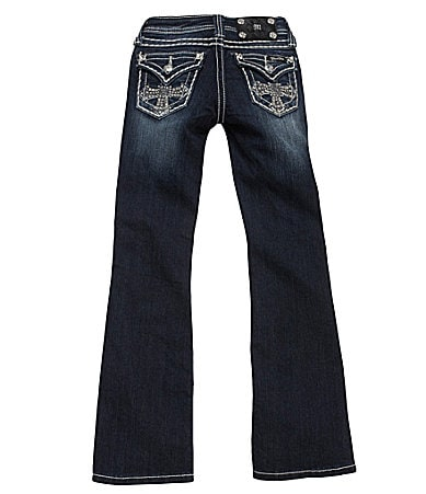 Miss Me Girls 7-16 Embellished-Cross Bootcut Denim Jeans