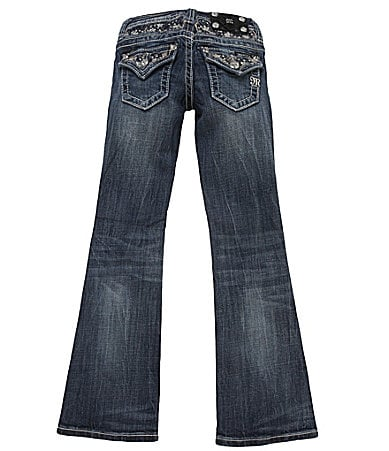 Miss Me Girls 7-16 Embroidered Bootcut Denim Jeans