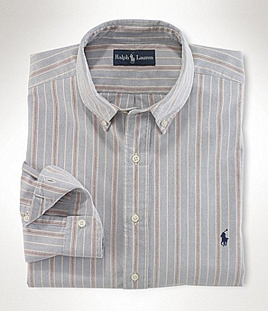 Polo Ralph Lauren Big & Tall Classic-Fit Multi-Striped Cotton Oxford Shirt