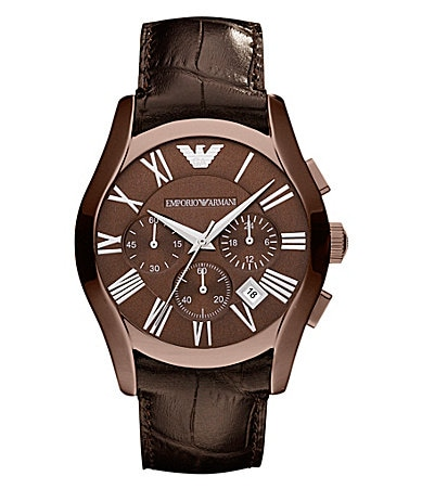 Emporio Armani Classic Brown Leather Watch