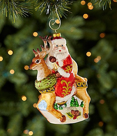 Dillard�s Trimmings Santa on Reindeer Ornament