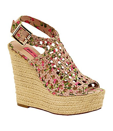 Betsey Johnson Beckeyy Wedge Sandals