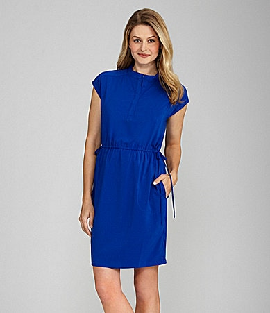 Calvin Klein Drawstring Waist Dress